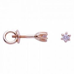 Золотые серьги-пусеты с бриллиантами 04-004