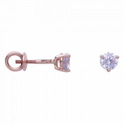 Золотые серьги-пусеты с бриллиантами 04-012