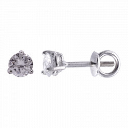 Золотые серьги-пусеты с бриллиантами 04-014