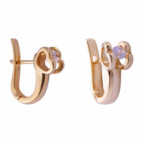 Золотые серьги с бриллиантами 04-029