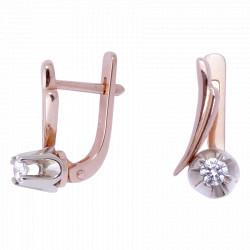 Утонченные золотые бриллиантовые серьги 04-033