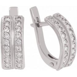 Золотые серьги с бриллиантами 04-040