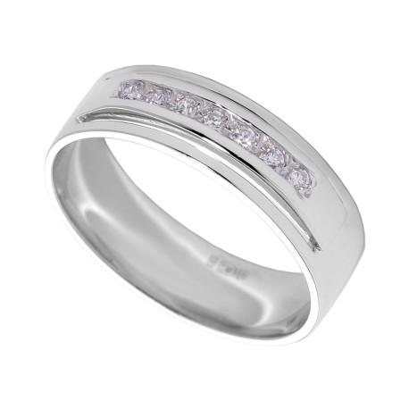 Золотое кольцо с кубическим цирконием