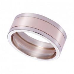 Кольцо обручальное комбинированное