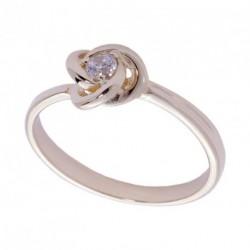 Кольцо с бриллиантом красное золото